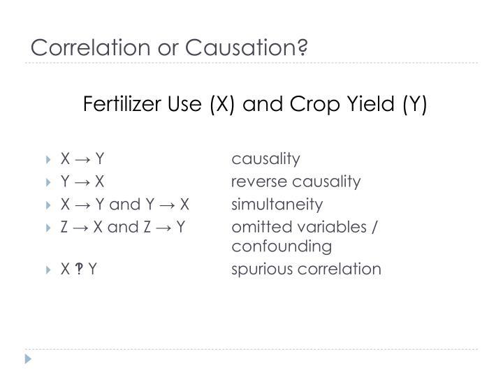 Correlation or Causation?