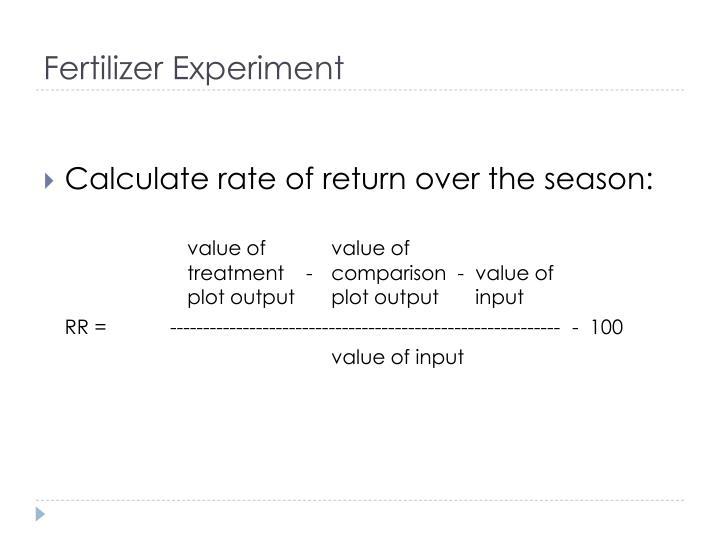 Fertilizer Experiment