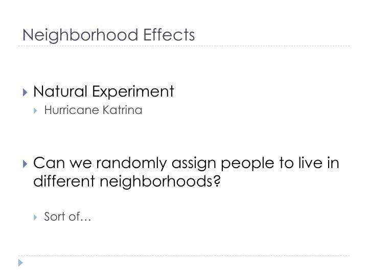 Neighborhood Effects