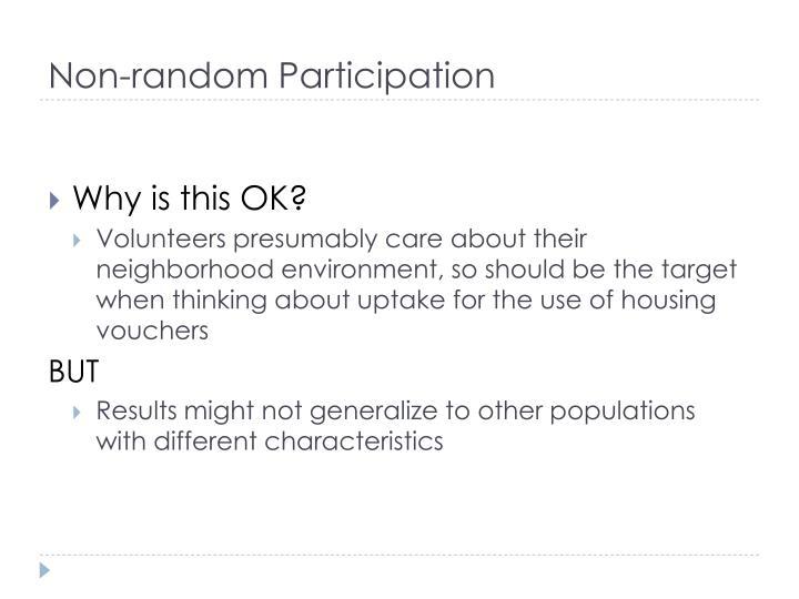 Non-random Participation
