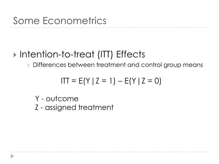 Some Econometrics