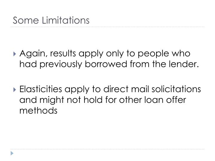 Some Limitations