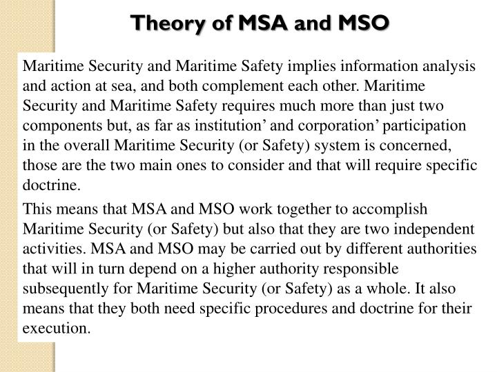 Theory of MSA and MSO