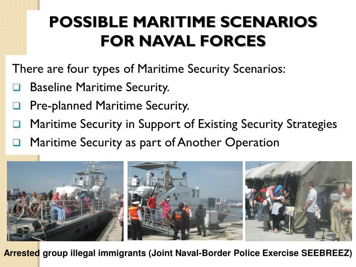POSSIBLE MARITIME SCENARIOS FOR NAVAL FORCES
