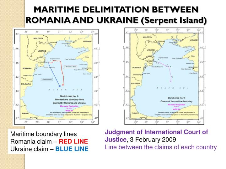MARITIME DELIMITATION BETWEEN ROMANIA AND UKRAINE (Serpent Island)