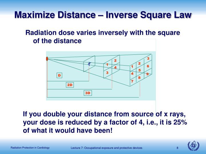 Maximize Distance – Inverse Square Law