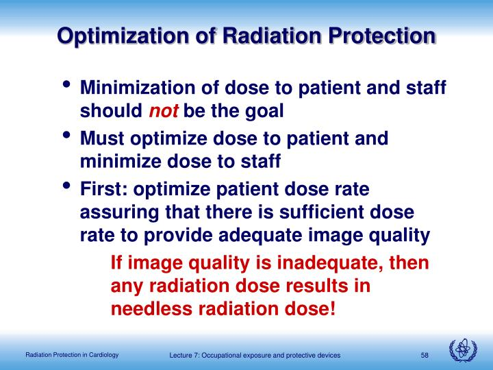 Optimization of Radiation Protection