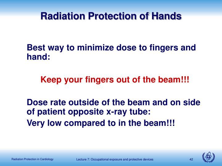 Radiation Protection of Hands