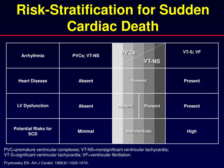 Risk-Stratification for Sudden Cardiac Death