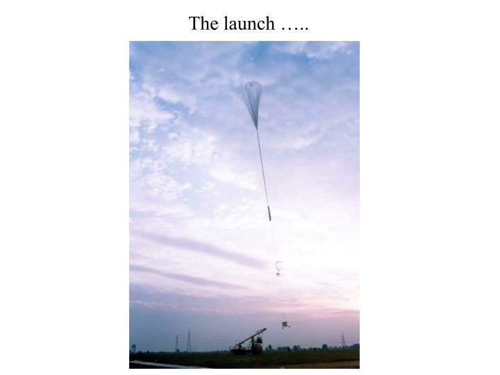 The launch …..