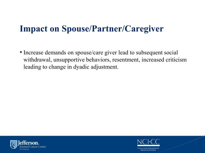 Impact on Spouse/Partner/Caregiver
