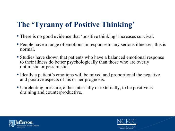 The 'Tyranny of Positive Thinking'