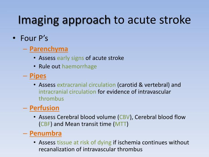 Imaging approach