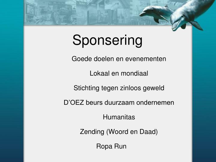 Sponsering