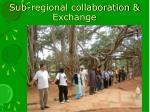 sub regional collaboration exchange