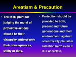 areatism precaution