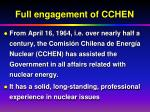 full engagement of cchen