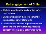 full engagement of chile