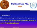 the nobel peace prize 2005