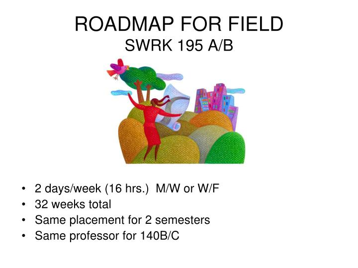 Roadmap for field swrk 195 a b