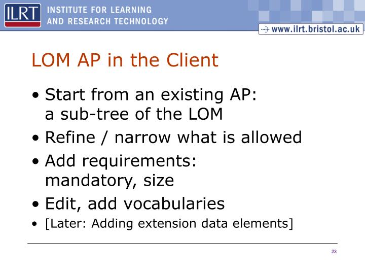 LOM AP in the Client