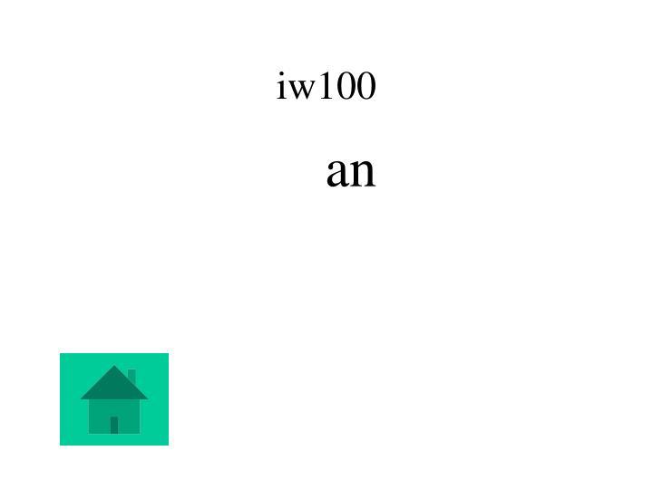 iw100