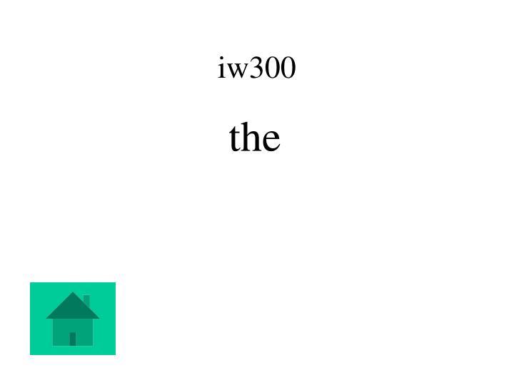 iw300