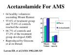 acetazolamide for ams