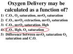 oxygen delivery may be calculated as a function of