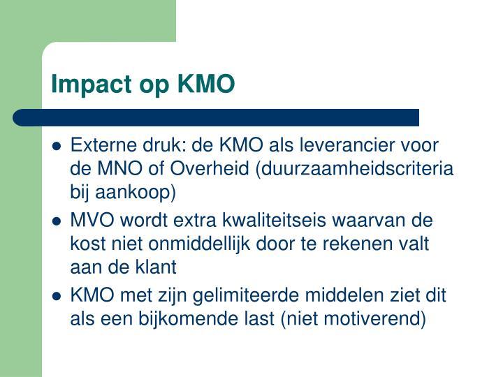 Impact op KMO
