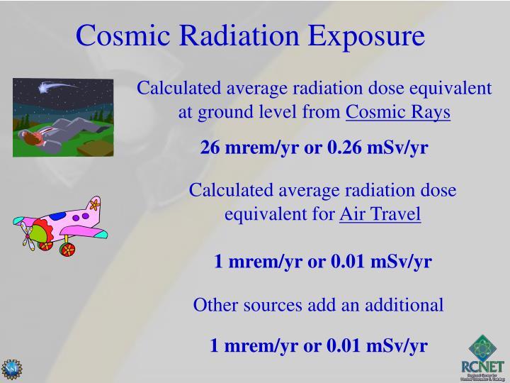 Cosmic Radiation Exposure