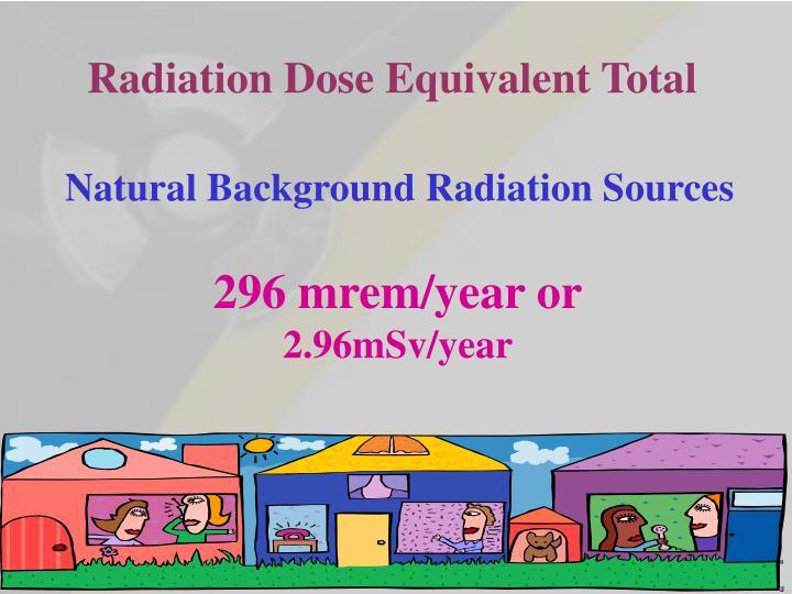 Radiation Dose Equivalent Total