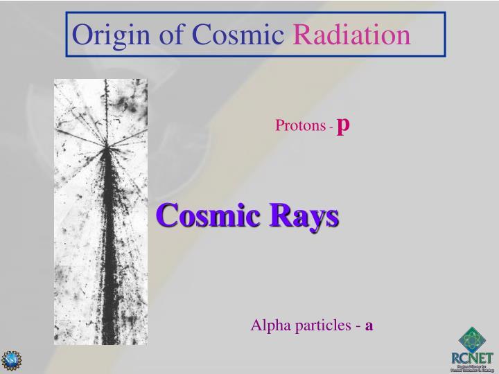 Origin of Cosmic