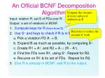 an official bcnf decomposition algorithm