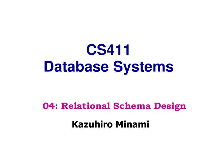 cs411 database systems n.