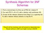 synthesis algorithm for 3nf schemas