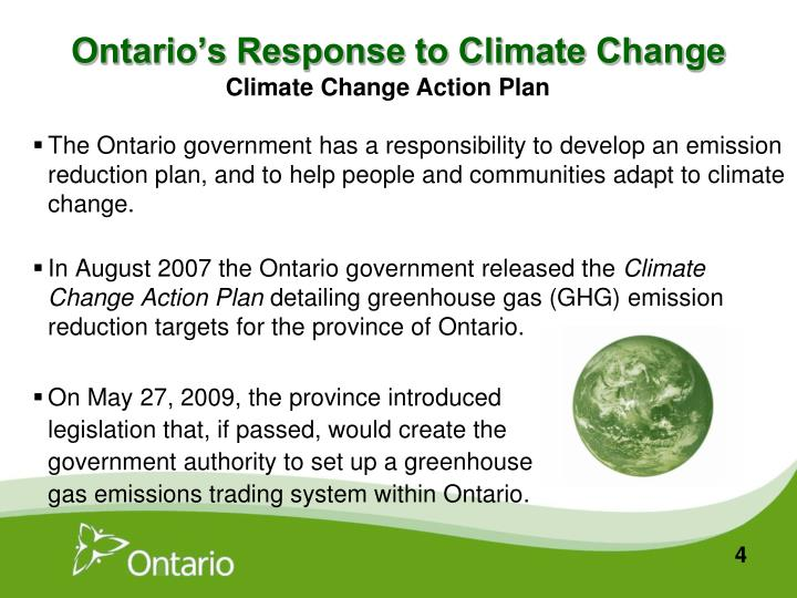 Ontario's Response to Climate Change