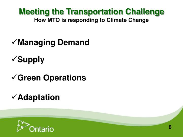 Meeting the Transportation Challenge