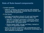 role of rule based components