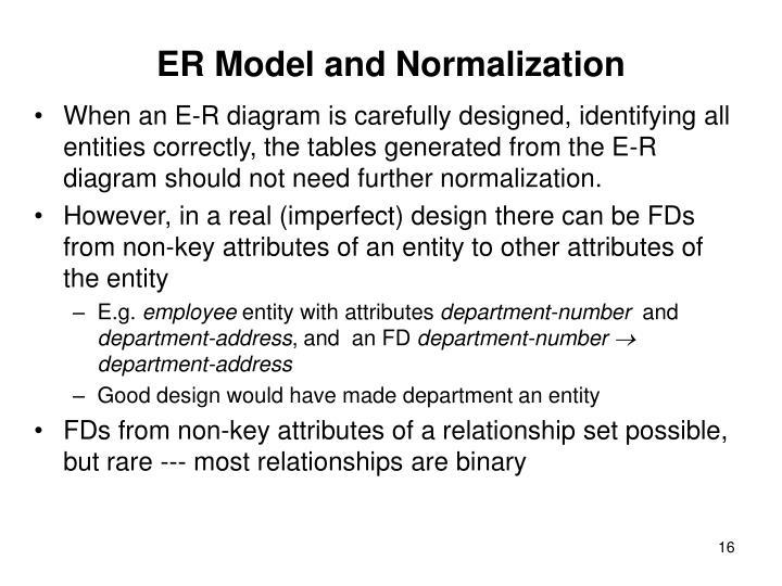 ER Model and Normalization