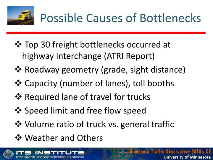 Possible Causes of Bottlenecks