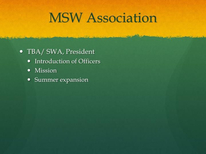 MSW Association