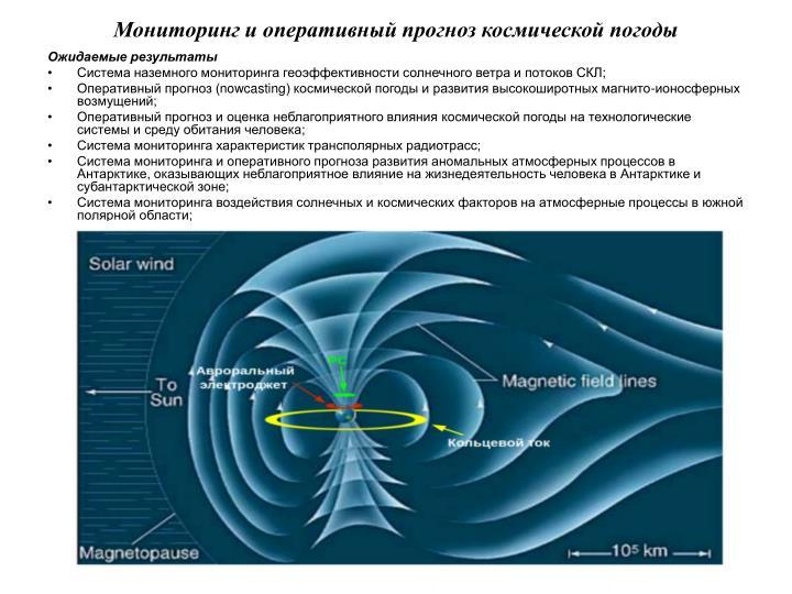 Мониторинг и оперативный прогноз космической погоды