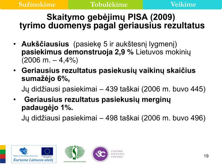 Skaitymo gebėjimų PISA (2009)