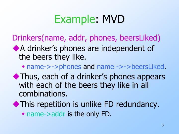 Example mvd