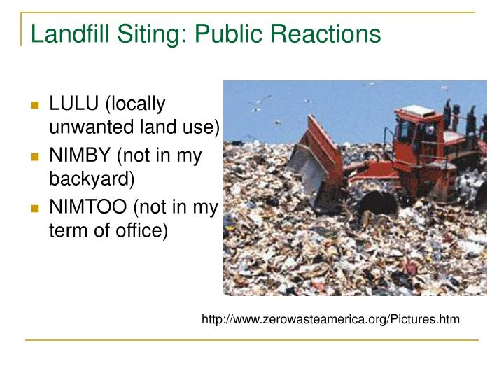Landfill Siting: Public Reactions