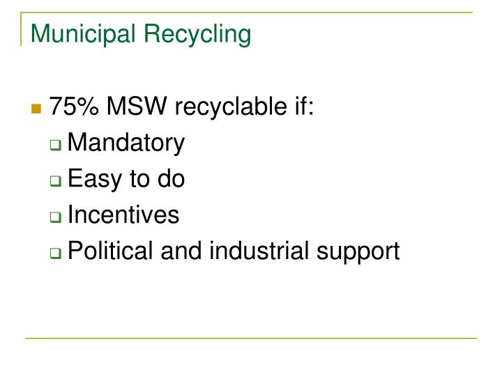 Municipal Recycling