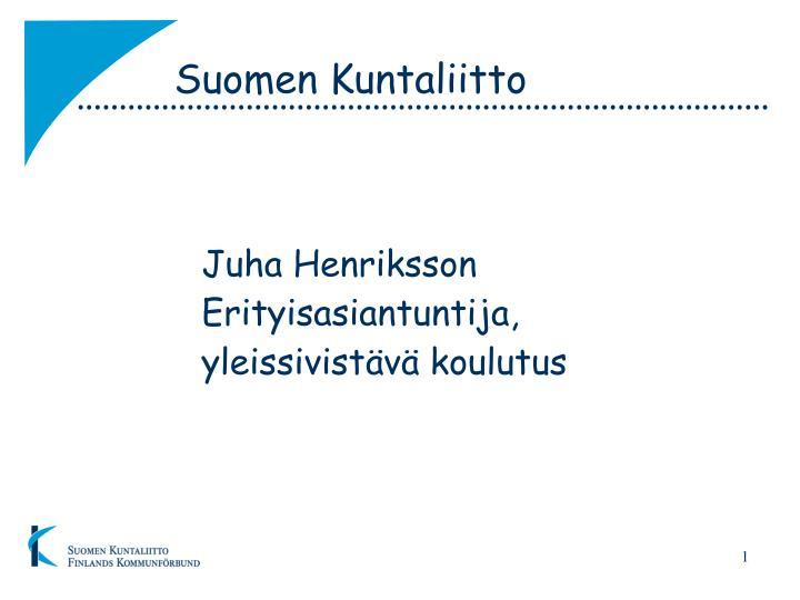 Suomen kuntaliitto