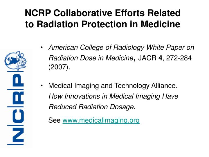 NCRP Collaborative Efforts Related