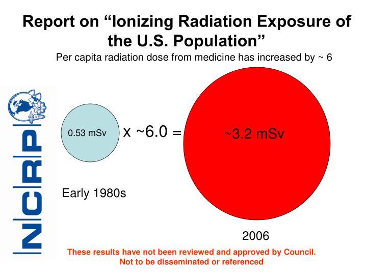 "Report on ""Ionizing Radiation Exposure of the U.S. Population"""
